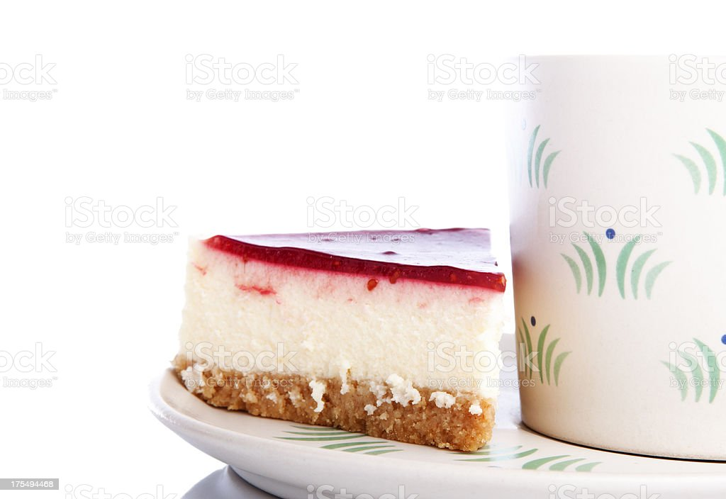coffee and slice o cake royalty-free stock photo