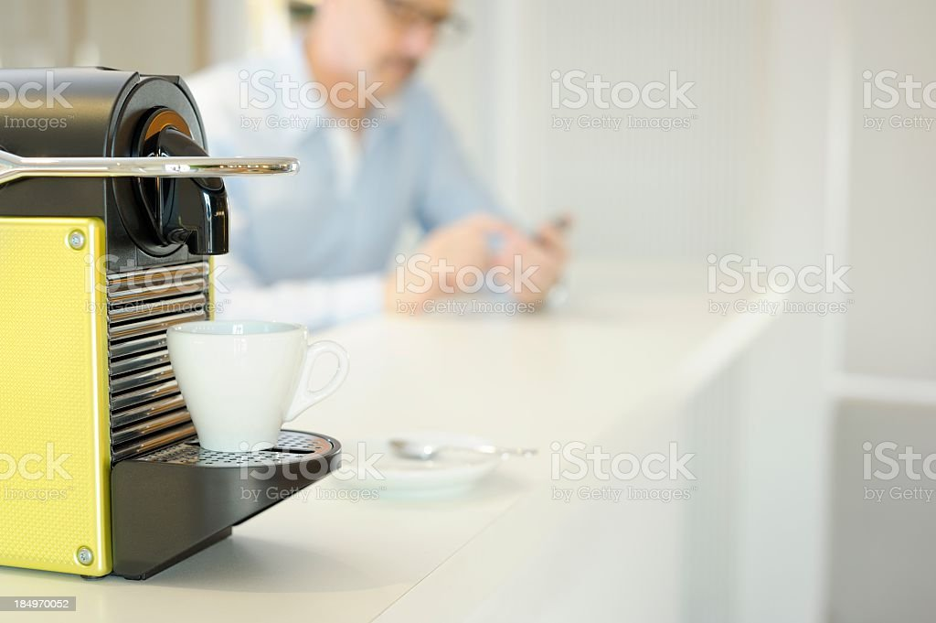 Coffee and Smartphone stock photo