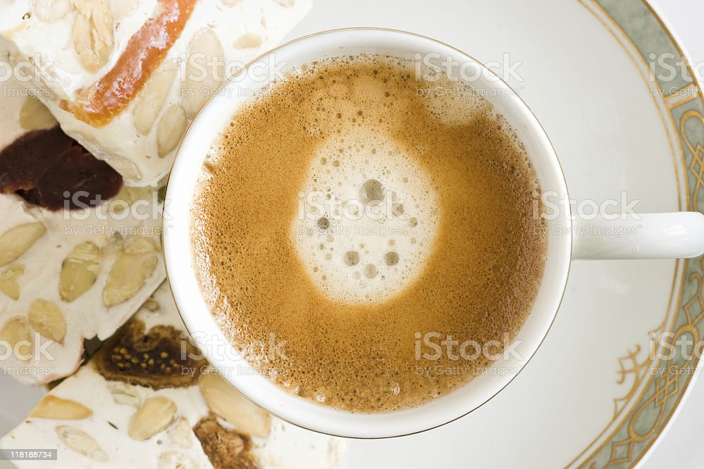 Coffee and snacks royalty-free stock photo