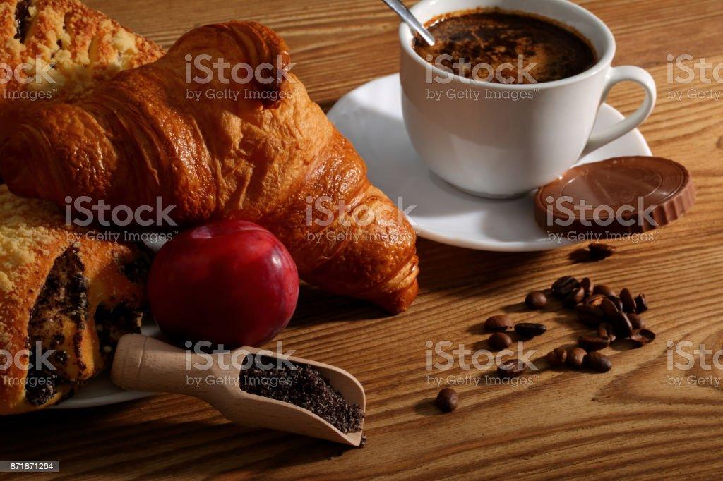 Coffee and sweetness to maintain good humor.