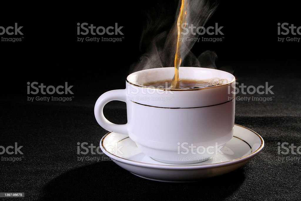 Coffee and tea cup royalty-free stock photo