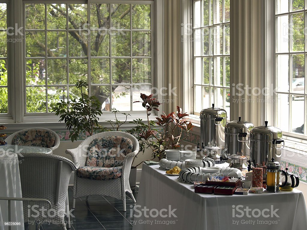 Coffee and Tea Service royalty-free stock photo