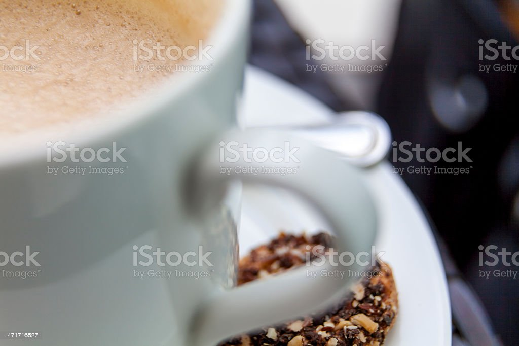 Coffee and the cokie royalty-free stock photo