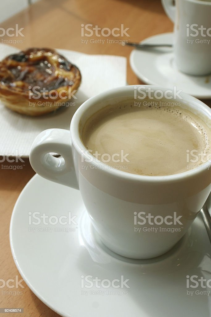 coffee and treat royalty-free stock photo
