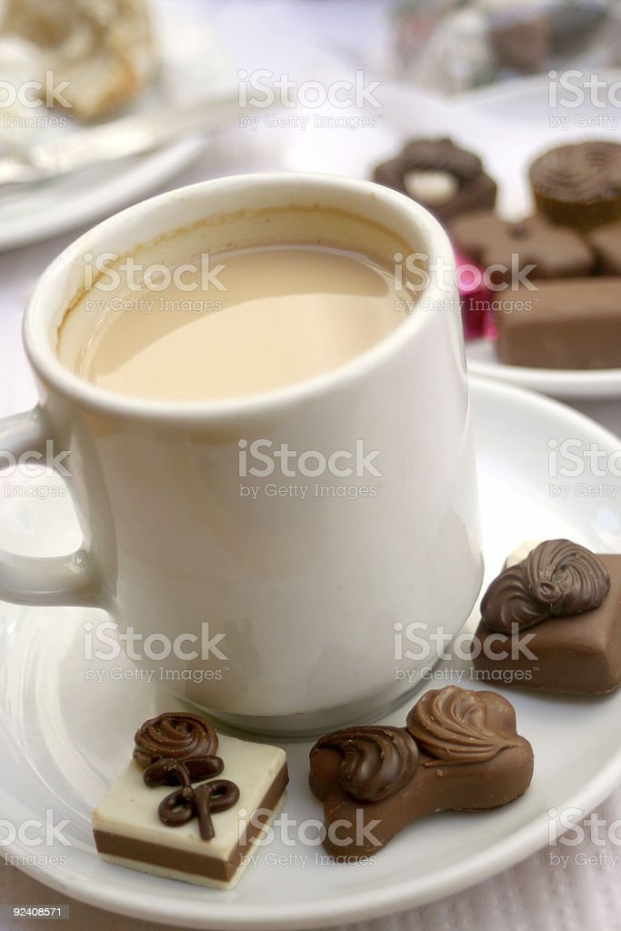 coffee and truffles royalty-free stock photo