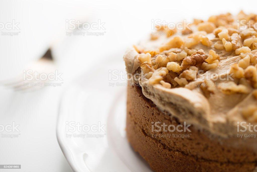 Café e bolo de nozes - foto de acervo