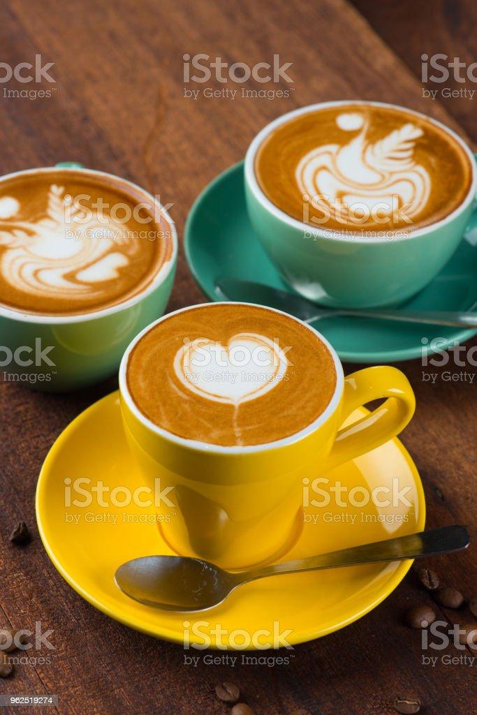 arte de café com leite - Foto de stock de Arte royalty-free