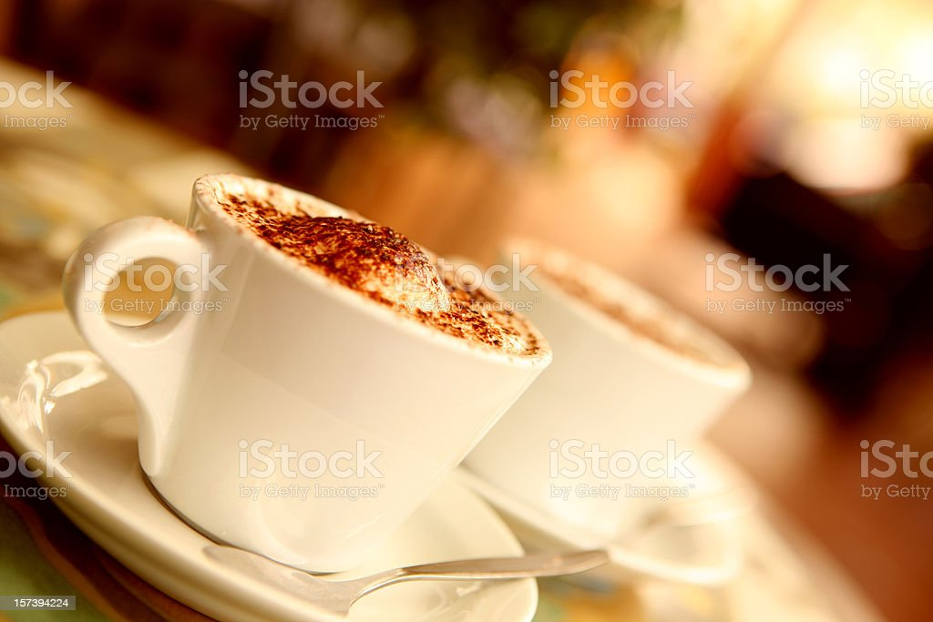 Coffee at Cafe royalty-free stock photo