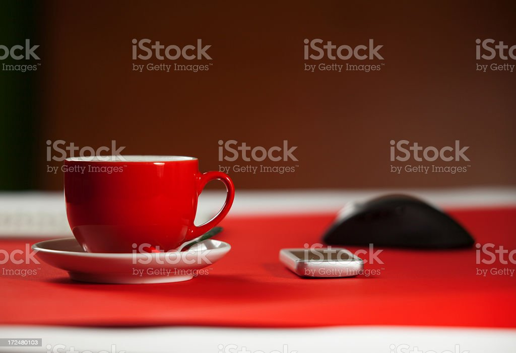 Coffee at the office royalty-free stock photo