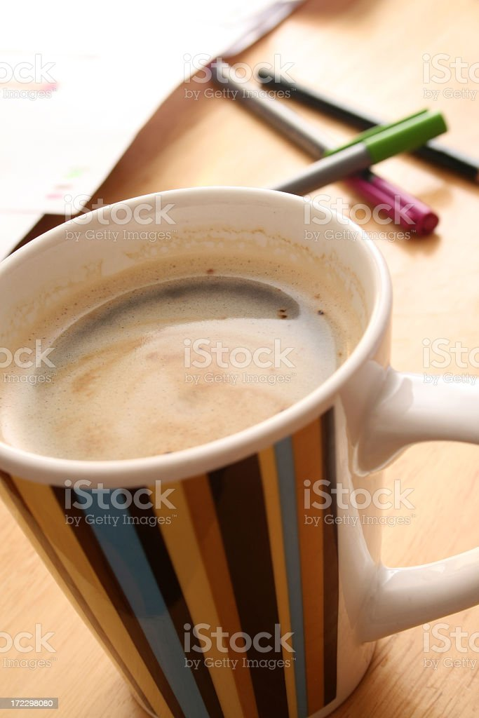 Coffee at work royalty-free stock photo