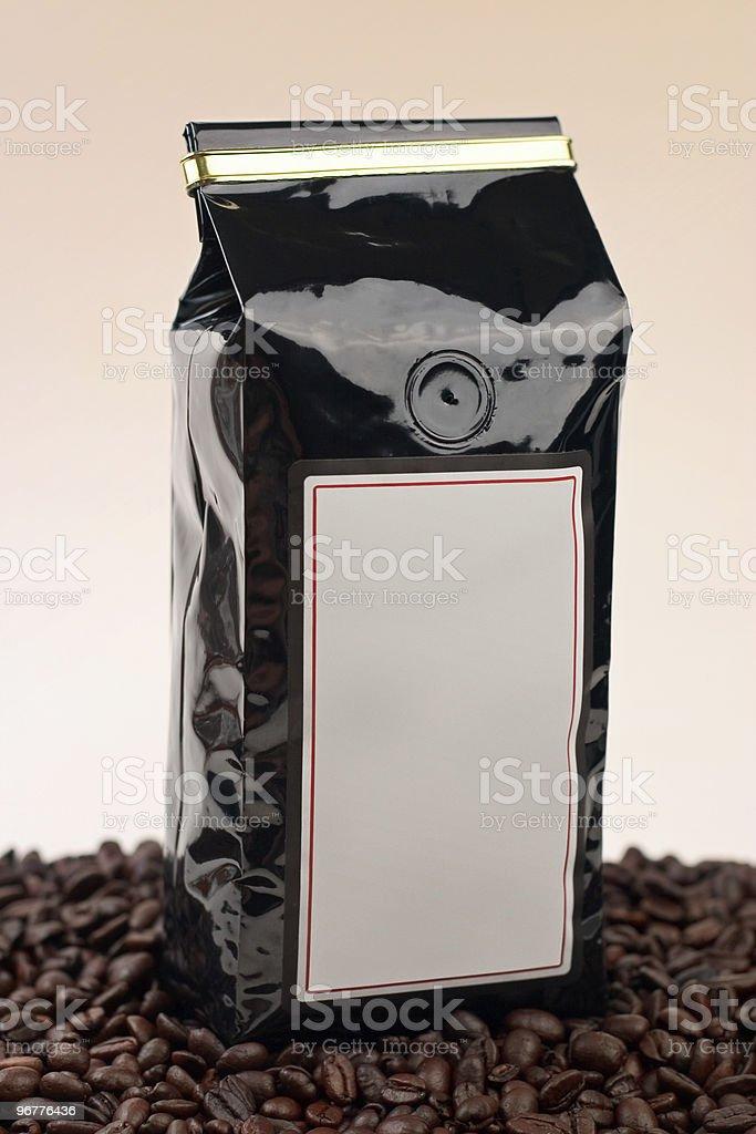 Coffee Bag Black royalty-free stock photo
