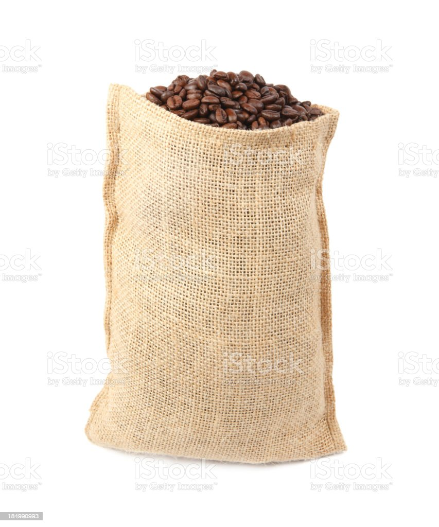 Coffee bag royalty-free stock photo
