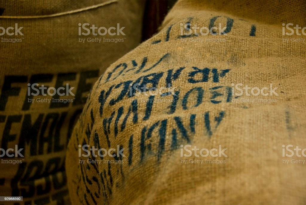 Coffee bag stock photo