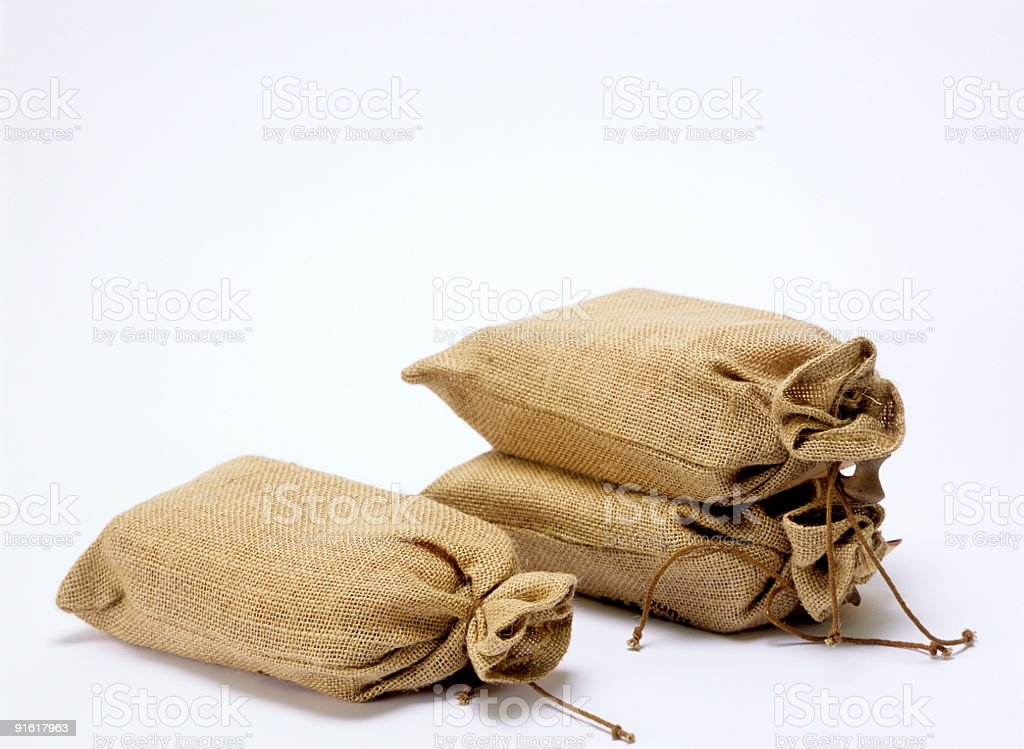 Coffee bags royalty-free stock photo