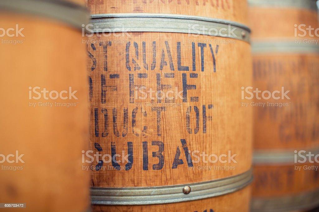 Coffee Barrel from Cuba royalty-free stock photo