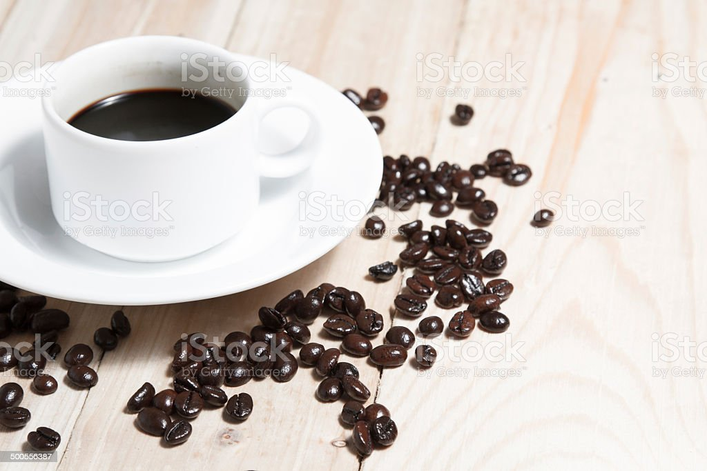 Coffee Bean and Cup royalty-free stock photo