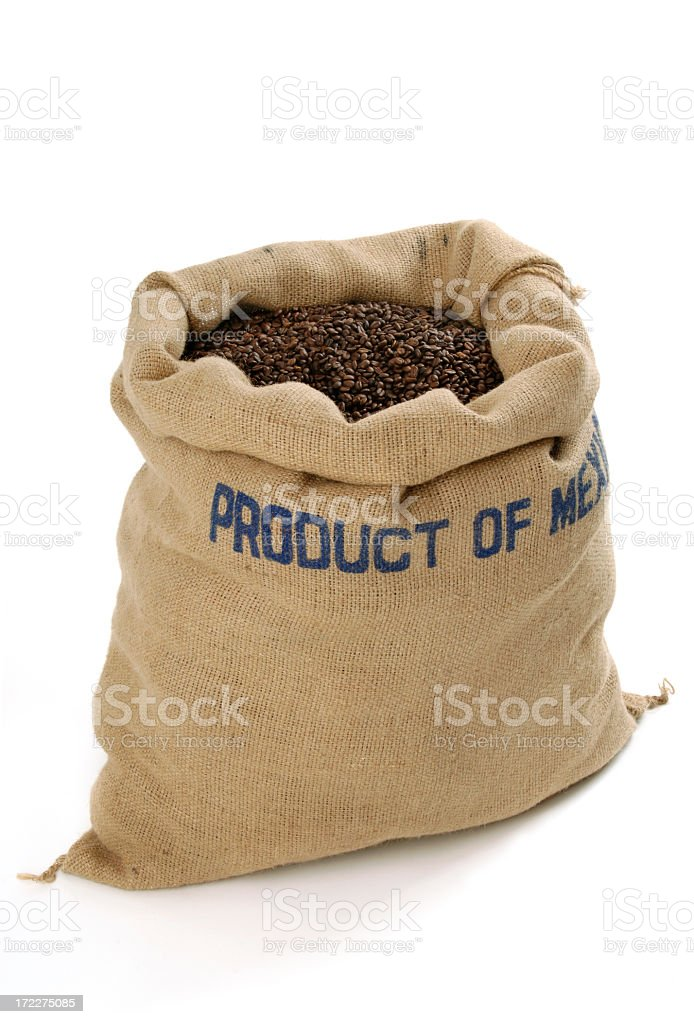 Coffee Bean Bag royalty-free stock photo