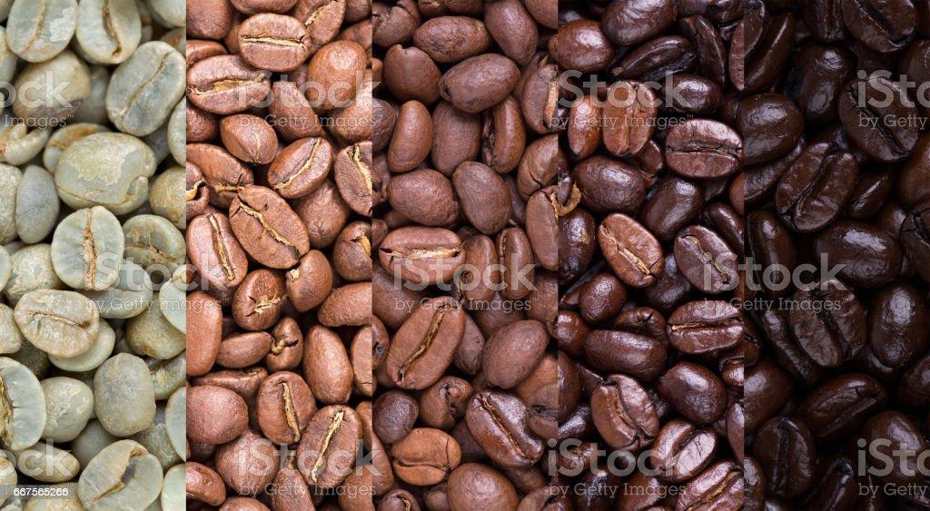 Coffee bean collage stock photo