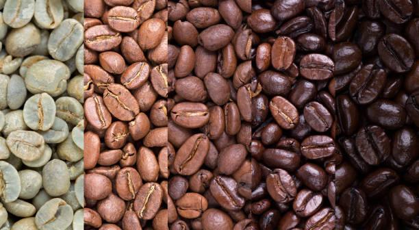 coffee bean collage - assado imagens e fotografias de stock