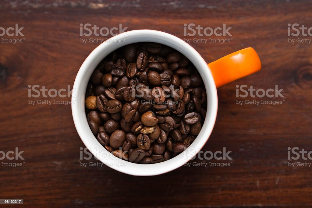 Coffee Bean Cup royalty-free stock photo