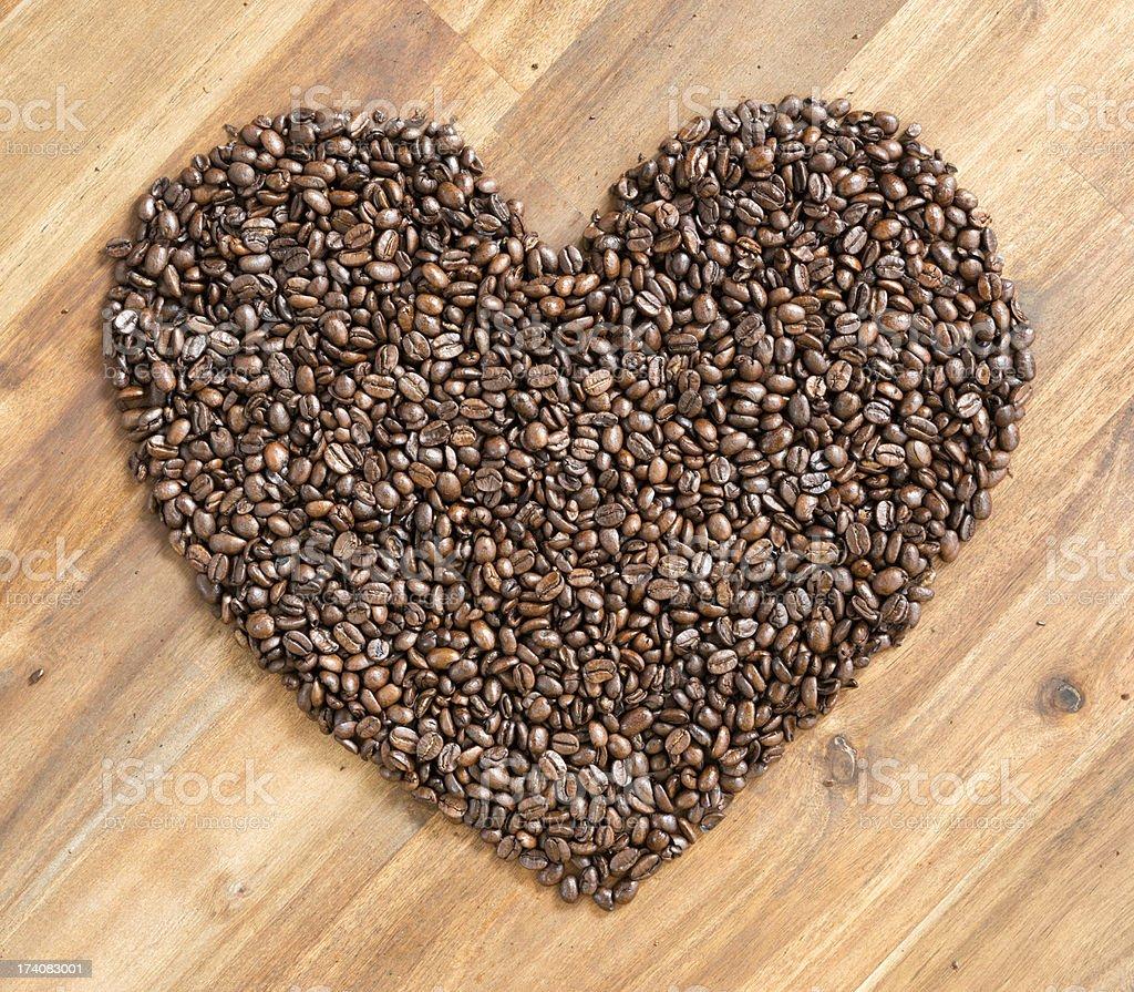 Coffee Bean Heart (XXXL) royalty-free stock photo
