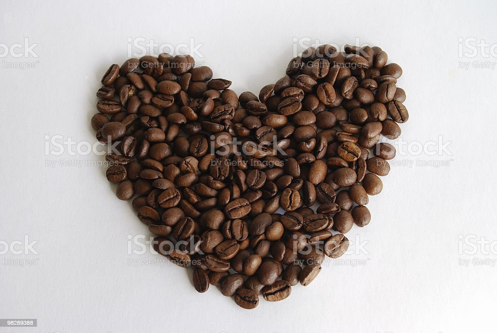 Coffee Bean Heart royalty-free stock photo