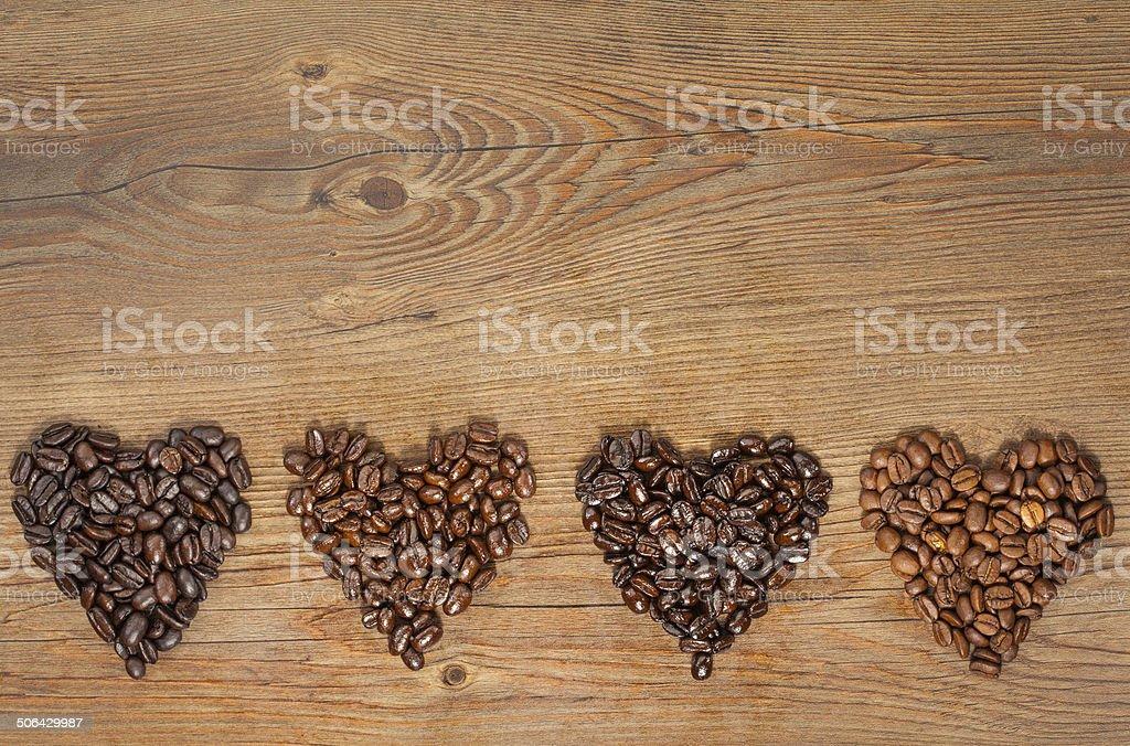 Coffee Bean Hearts stock photo