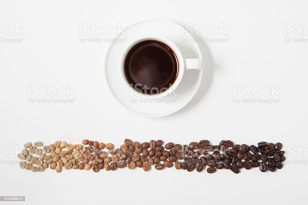 Coffee Bean Roast Spectrum stock photo