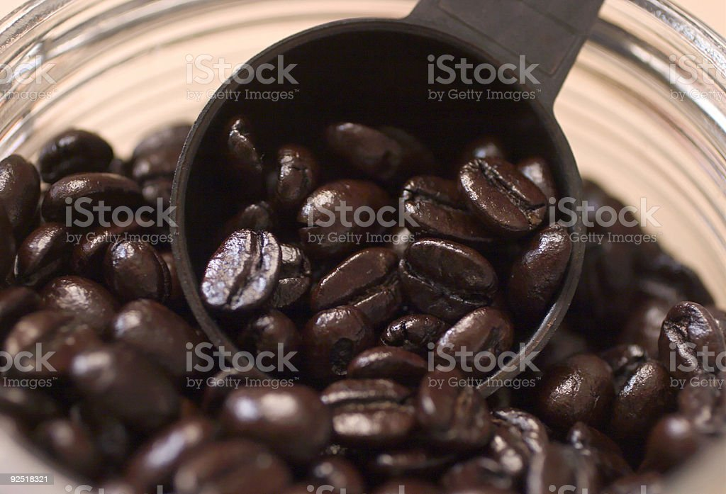Coffee Bean Scoop royalty-free stock photo