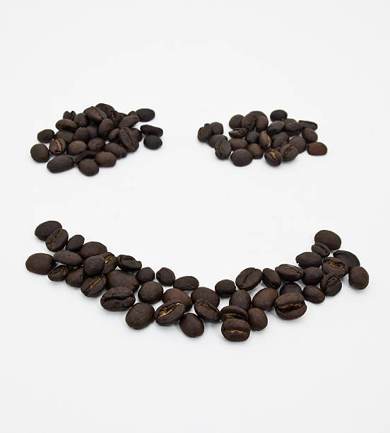 Coffee Bean Smile stock photo
