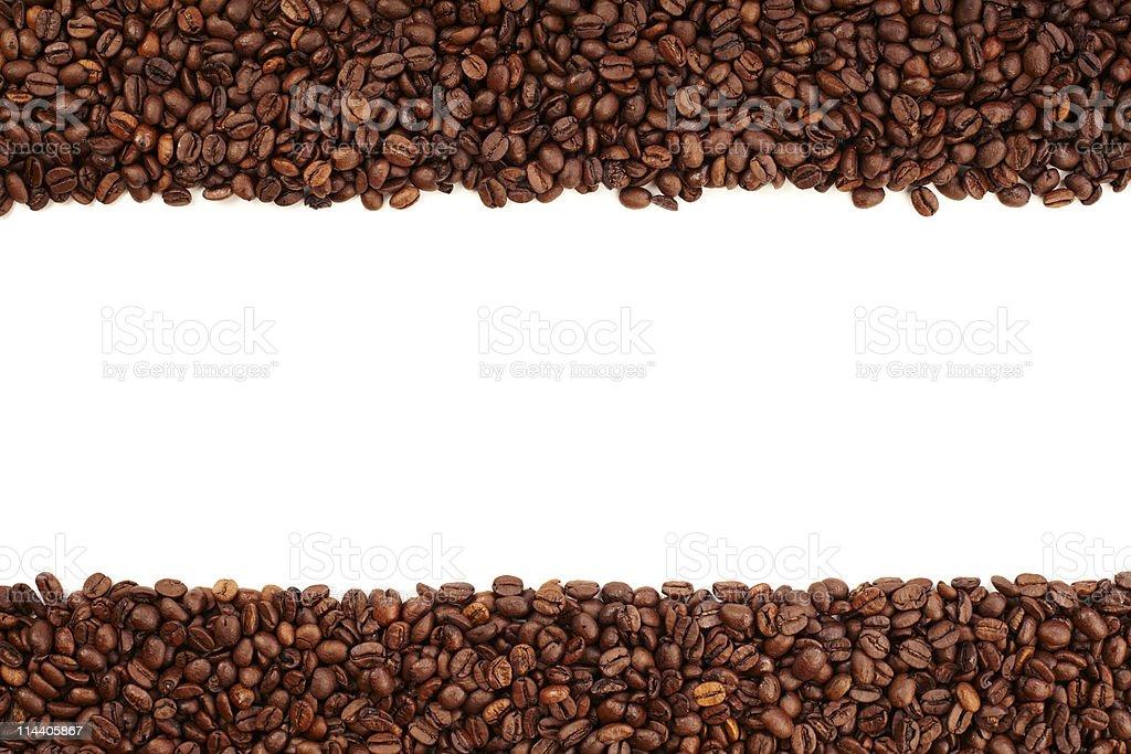 Coffee bean stripe royalty-free stock photo