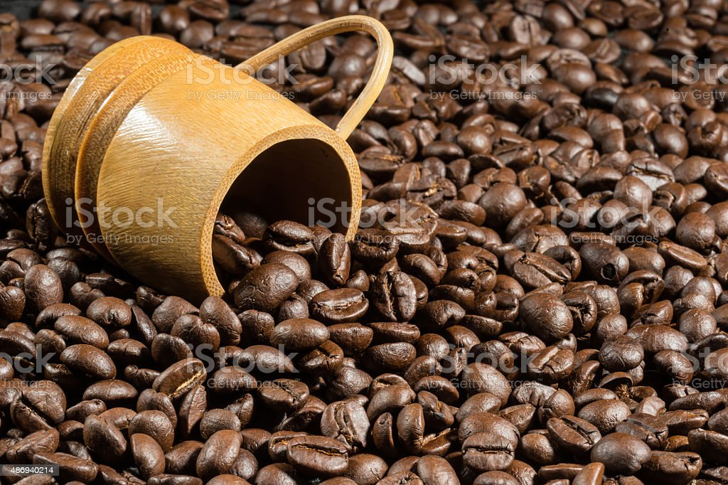 coffee bean texture background stock photo
