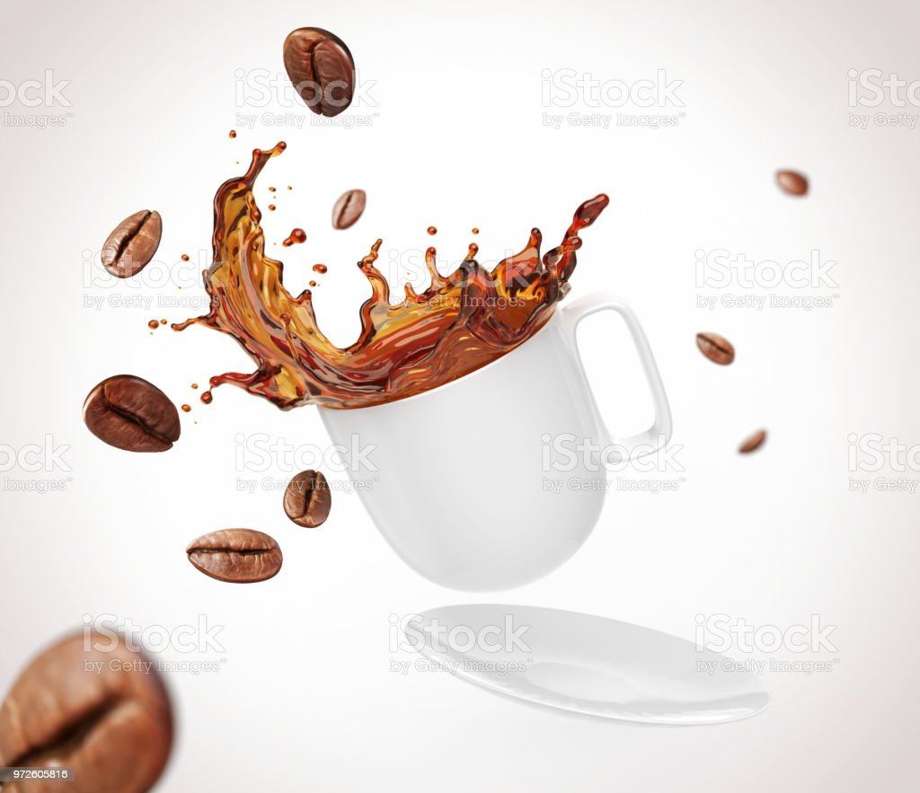 Coffee Bean With Splash Stock Photo Download Image Now Istock