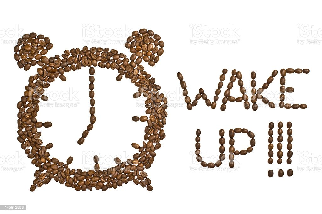 Coffee Beans Alarm Clock royalty-free stock photo