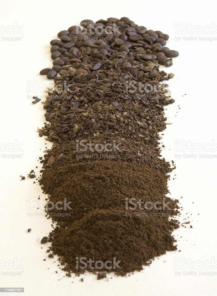 coffee beans and grounds stock photo