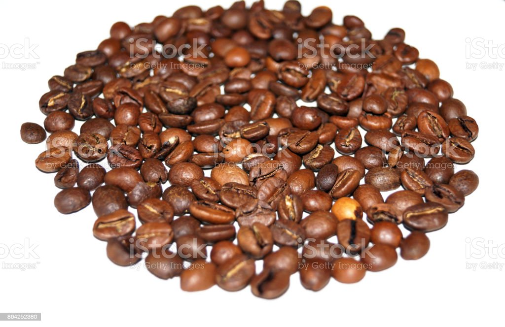 Coffee beans arranged in a circle royalty-free stock photo