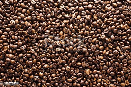 867484488 istock photo Coffee beans background 1163872551