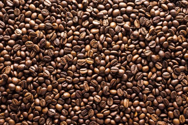 kaffebönor bakgrund - kaffe bildbanksfoton och bilder