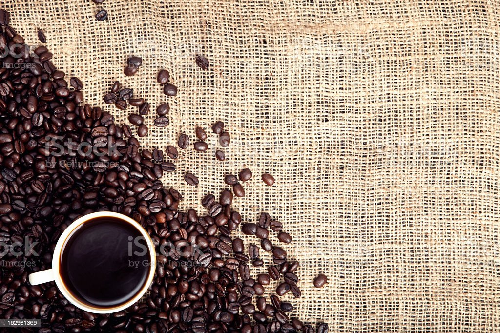 Coffee Beans Background royalty-free stock photo