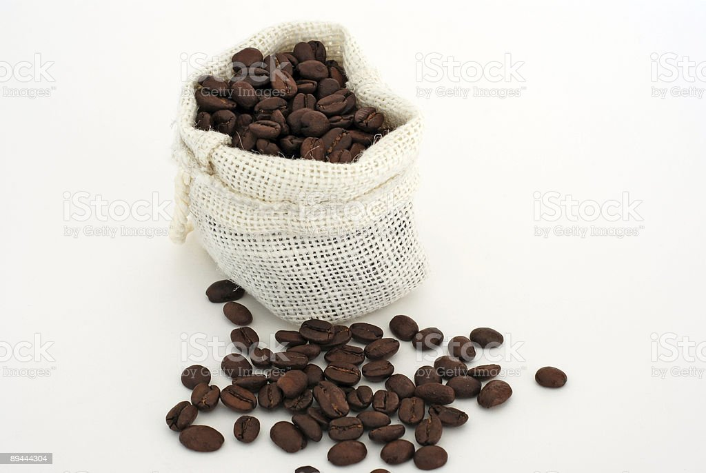 Coffee beans bag royalty-free stock photo
