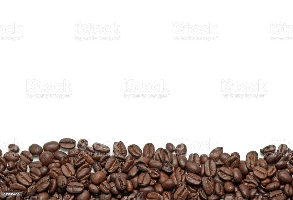 Coffee beans border. - Royalty-free Brown Stock Photo
