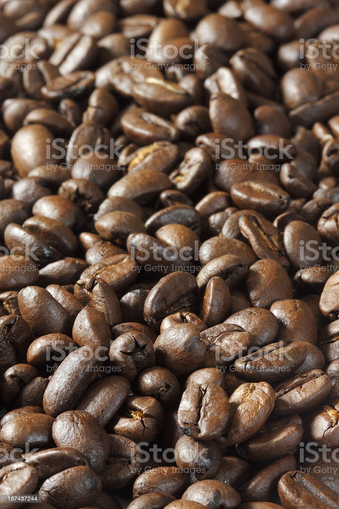 Coffee Beans close up - full frame vertical royalty-free stock photo