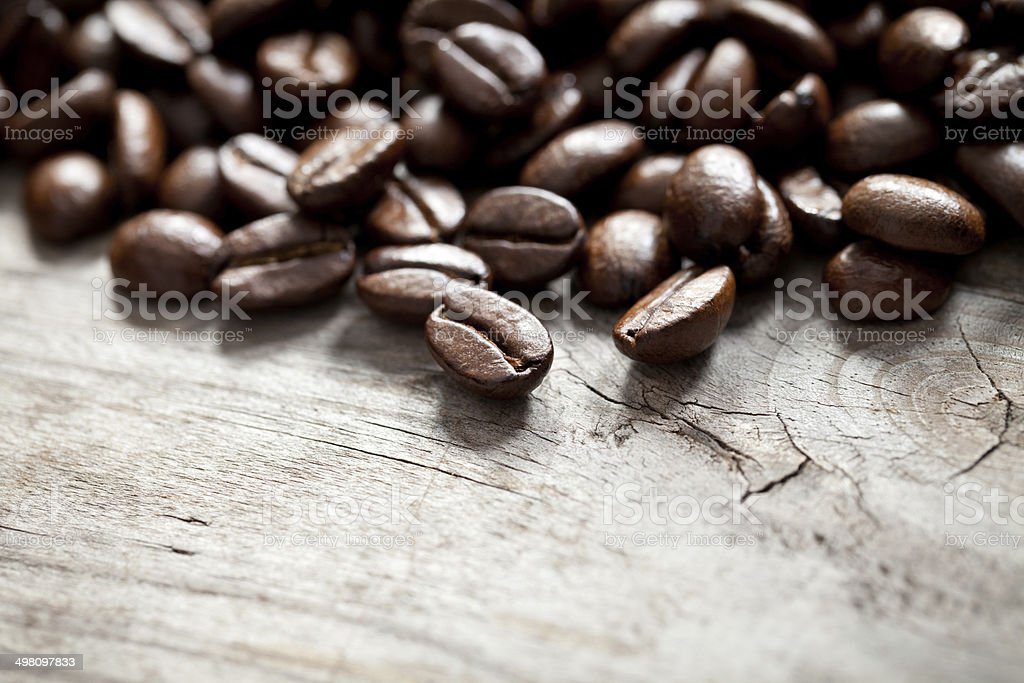 Coffee beans close up stock photo