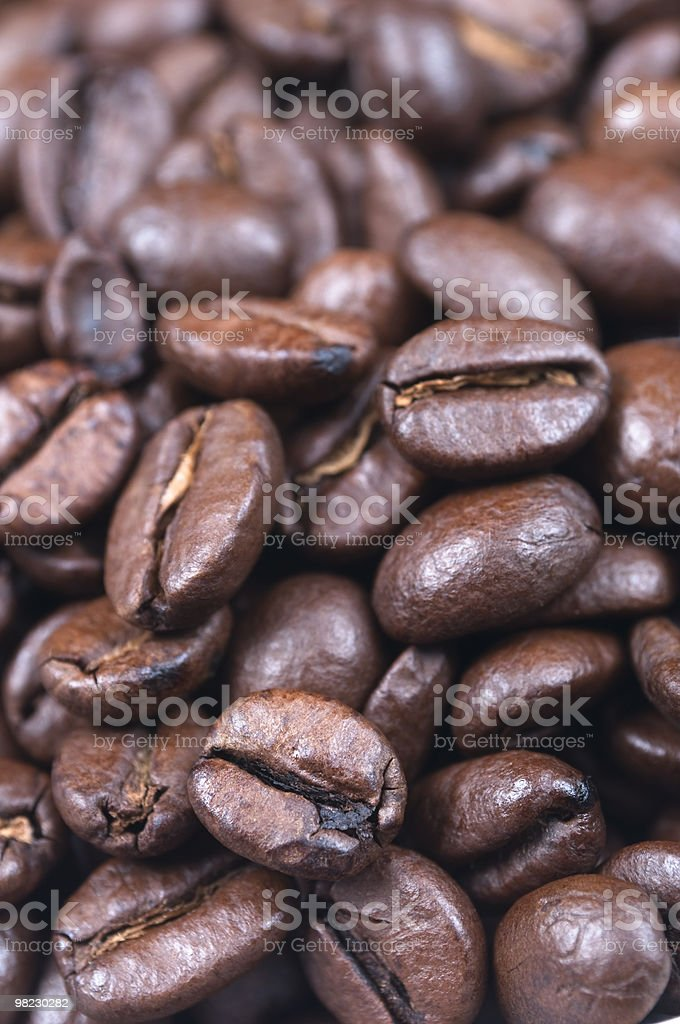 Coffee Beans Close Up royalty-free stock photo
