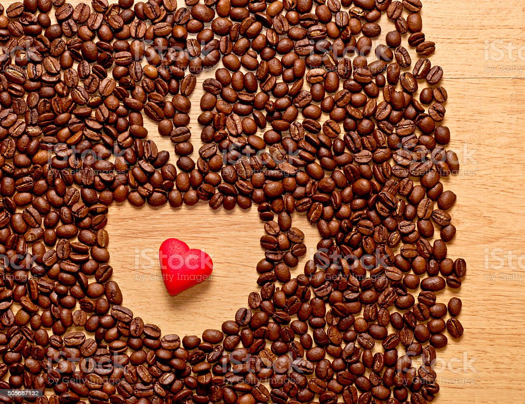 Coffee beans cup and heart stock photo more pictures of coffee beans cup and heart royalty free stock photo biocorpaavc Gallery