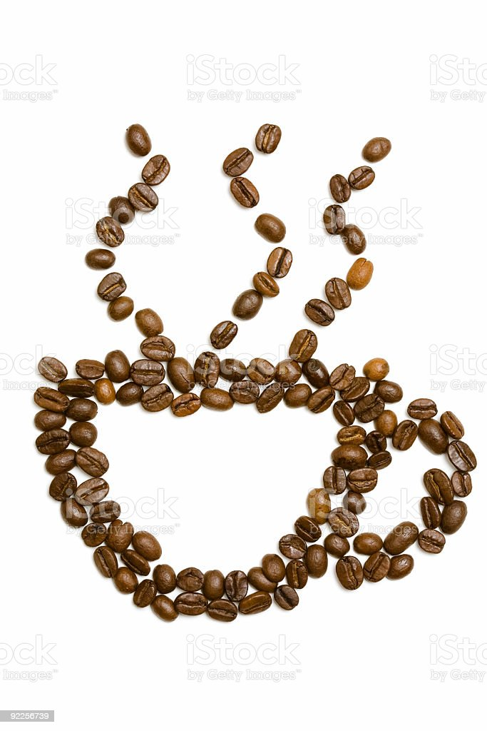 Coffee Beans - Cup royalty-free stock photo