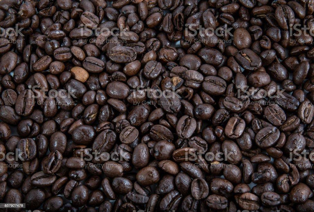 Coffee beans dark background stock photo