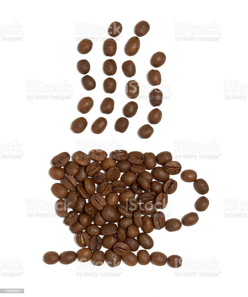 coffee beans design royalty-free stock photo