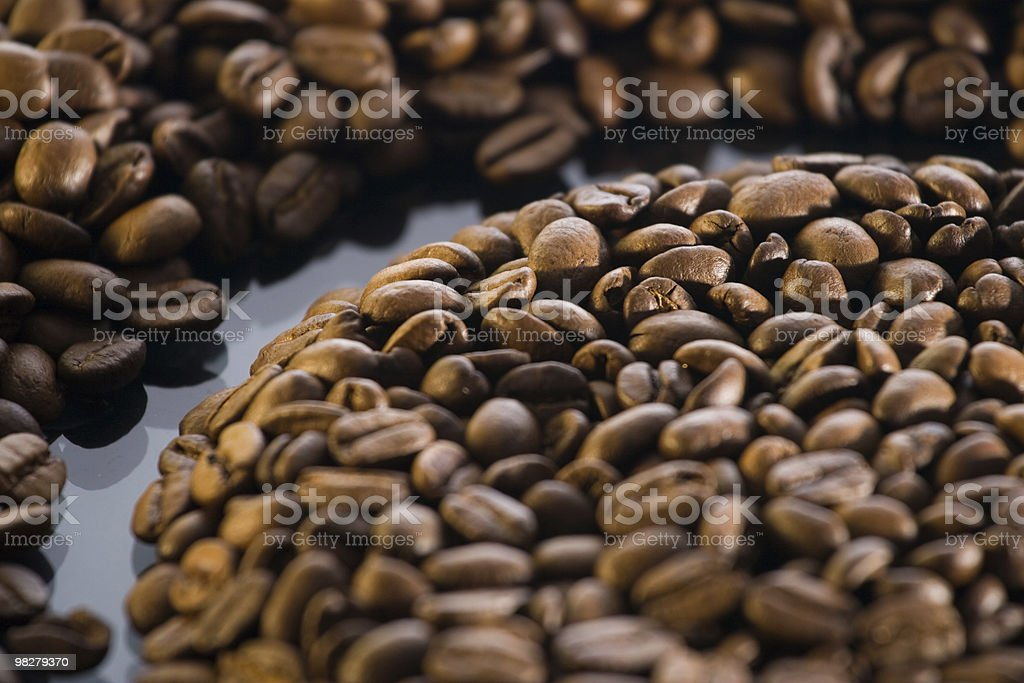 Coffee beans detail royalty-free stock photo