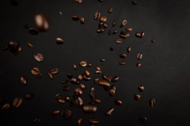 Coffee beans explosion - foto stock